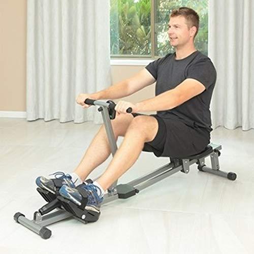 DFANCE RudergeräT füR Zuhause, Klappbar RudergeräTe, 12 Hydraulische Widerstandsanpassung, Multifunktionsdisplay, Cardio Rower Workout Fitness Body