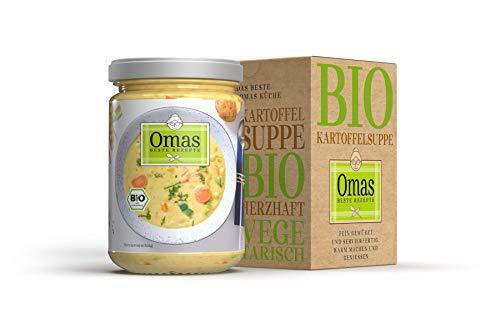 Omas BESTE REZEPTE - 5 Gläser Bio Kartoffelsuppe - Suppe mit Kartoffeln, Karotten, Süßkartoffeln und feinsten Kräutern - aus kontrolliert biologischem Anbau - 5x 350g