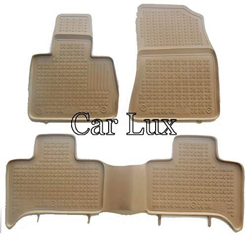 Car Lux AR03930 Tapis de sol sur mesure en caoutchouc avec bord haut type cuve 3D Beige pour le X5 E53