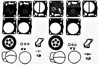 (2-PACK) Jet Ski Mikuni Super BN SBN Dual Carb Carburetor Rebuild Repair Kits for (2) Mikuni 38 40i 44 46 Carburetors - Dual Set