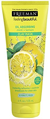 Freeman Feeling Beautiful Mint and Lemon Clay Mask 175 millilitres from Freeman Beauty