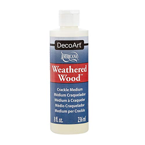 Deco Art Weathered Wood Crackling Medium 8oz-Brown