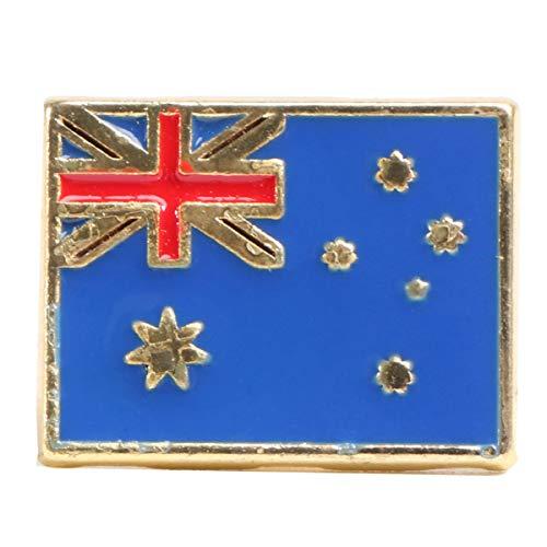 Happyyami Nationalflagge Stifte Emaille Anstecknadel Kupplung Zurück Brosche Stifte Corsage Abzeichen Kostüm Requisiten für Kleidertaschen Rucksäcke (Australien)