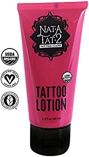Nat-A-Tat2 Tattoo Aftercare Lotion with Essential Oils, Organic Vegan Skin Care