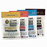 Variety Pack Biltong Baron, Air-Dried Beef, 2oz Bags (4 Bags), A Cut Above Jerky with Pure Protein and No Sugar or Carbs, Keto and Paleo Diet Friendly