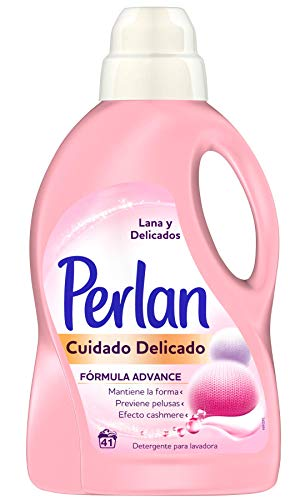 Perlan Cuidado 3D Detergente para Lana y Ropa Delicada, 41 Lavados, 1.25L