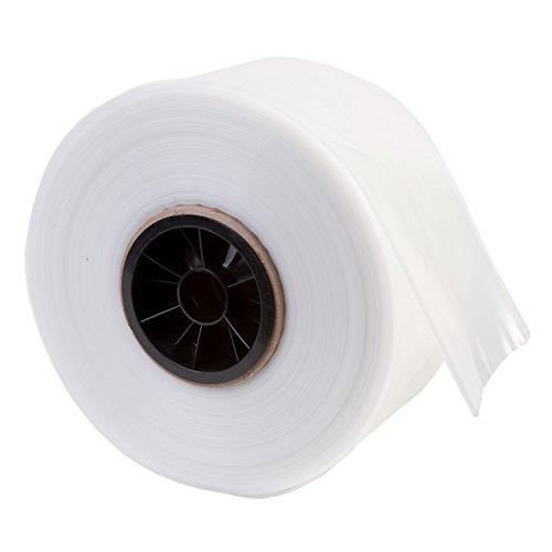 """Hudson Exchange LDPE Poly Tubing, Mini Roll, 4"""" W x 500' L, 4 Mil"""