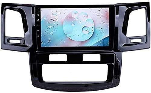 ZHANGYY Navegación GPS para automóvil Estéreo automático de 9 Pulgadas Compatible con Toyota Compatible con Tuner Hilux 2007-2015 Android Radio BT Llamada Manos Libres