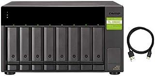 QNAP TL-D800C-US 8 Bay USB 3.2 Gen 2 Type-C High-Capacity SATA 6Gbps JBOD Storage Enclosure
