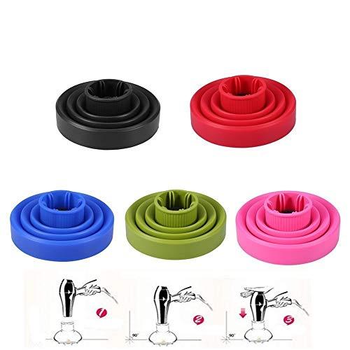 Difusor para el cabello de silicona - Secador de cabello plegable universal portátil Accesorio Secador Rosa 5Colors (Color : Rose)