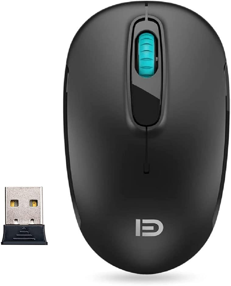i310 Wireless Mouse - Silent Clicks for Quiet Places Like Library,Office,Hostipal, Conference and More (2.4G,Medium Size,AAA Battery Included)