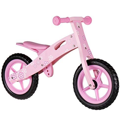 Nicko NIC856 - Bici per bambini in legno con fiore rosa
