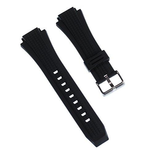 Calypso - Cinturino outdoor in poliuretano, colore nero, per orologi Calypso K5629