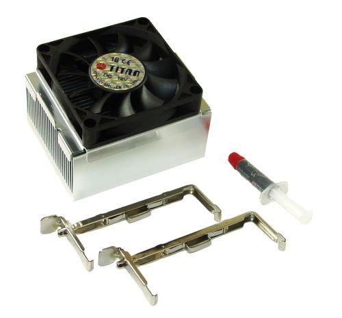 Titan TTC-W4TB - Ventilador de PC (Procesador, Ventilador, 34 dB, Intel Pentium P4 Socket 478, Negro, Plata, 3,12 W)