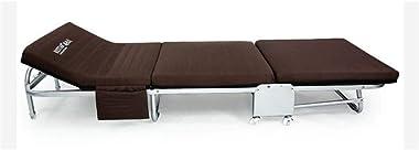 Folding Camping cot,Adult Folding Camping Folding Bed Adjustable Backrest Folding Away Single Beds Mattresses Foldable Lounge