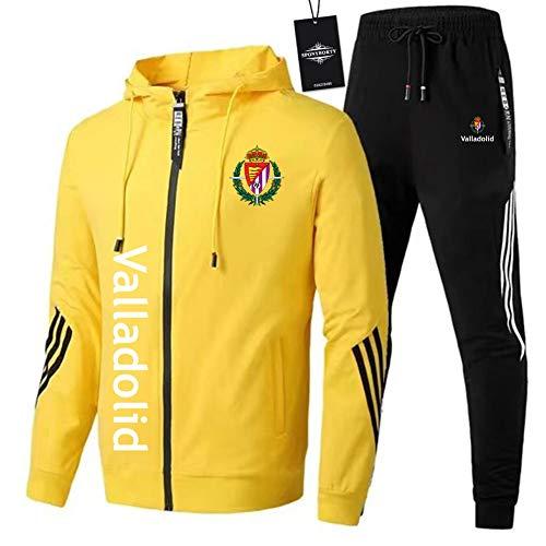 JesUsAvila de Los Hombres Chandal Conjunto Trotar Traje ClubFútbol Hooded Zipper Chaqueta + Pantalones Deporte Sudadera Suéter Joggers/yellow/XL