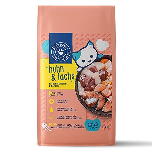 Junior Katzenfutter trocken 400 g | Premium-Qualität | Huhn mit Süßkartoffel | Trockenfutter für Junge Katzen mit 75{7d65892341444499ba451375e01be680ac72158beb712b1a5252de8a35217339} Fleisch- & Fischanteil, getreidefrei und ohne unnötige Zusätze