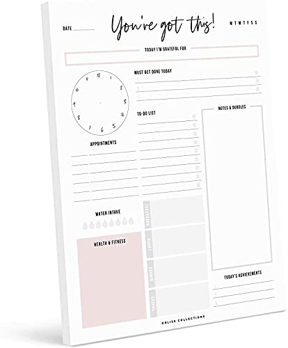Bliss Collections Daily Plannerwith50 Undated8.5 x 11 Tear-OffSheets-You'veGotThisCalendar,Organizer,Scheduler, ProductivityTrackerforOrganizingGoals,Tasks,Ideas,Notes, To Do Lists