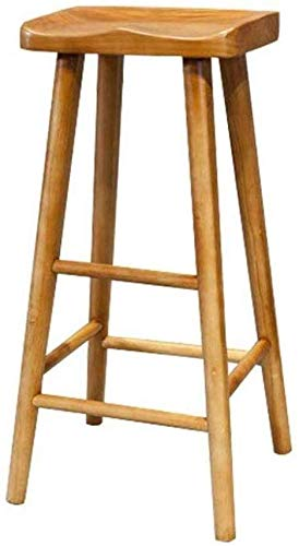WTT barkruk soild hout met voor theke café keuken ontbijt pub wintertuin teak kleur vintage stoelen barkruk meubel contoured zadelstoel 21/25/29-inch voetensteun kruk stoel