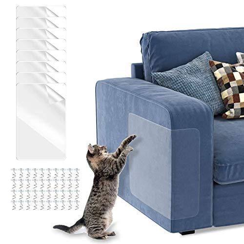 8PCS Sofá Anti-arañazos,Protectores de Sofá para Muebles Tapizados,Protector de arañazos Para Gatos,Gatos Anti-arañazos,Protector de Muebles para Gatos, Protector de Muebles Antiarañazos