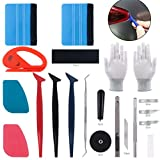 Keadic 47Pcs Car Vinyl Wrap Tool Kits, Felt Squeegees with Spare Fabric Felts, Vinyl Graphic Magnet Holders, Gloves, Zippy Vinyl Cutter, Utility Knife and Blades, Micro Squeegees and Storage Box