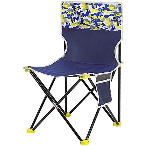 MCKEYEN Silla De Camping Silla Plegable De Ocio Al Aire Libre Portátil Dibujo Artístico Boceto con Peso 250 Kg para Viaje Al Jardín Pesca Playa Y Barbacoa,Azul