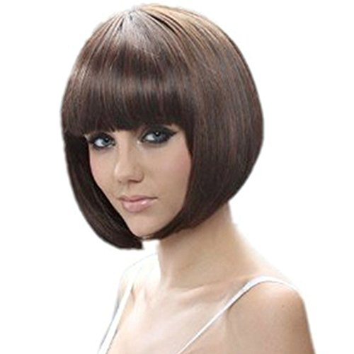 "RoyalStyle 11.8""30cm Short Hair Natural As Real Cosplay Bob Wigs(Brown)"