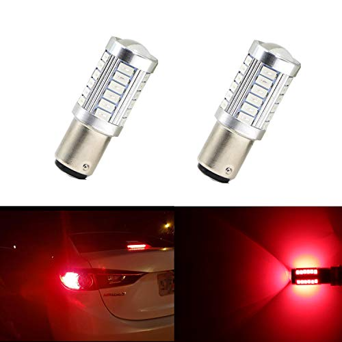 Extremely Bright Brake Light Tail lights Turn Singal Light 1157 BAY15D 1016 1034 1178A 1196 2057 With 33 SMD 5630 Red Bulbs (Set of 2)