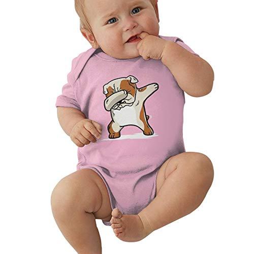 Funny Dabbing English Bulldog Baby Boys Pijama Unisex Romper Baby Girls Body Infant Kawaii Jumpsuit Outfit 0-2t Niños,Rosa,18 Meses