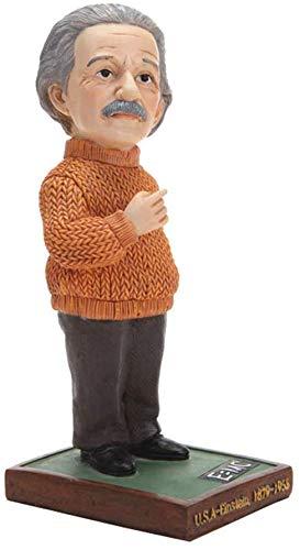 WJSW Orange Pullover Einstein Statue Harz Figuren Skulptur Kunstwerk Hause Tisch Schrank Kunst Dekor Moderne Desktop Figuren Büro Auto Dekoration