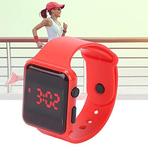 SHYEKYO Reloj electrónico, Reloj de Pulsera Ligero fácil de Llevar Luminoso para el Tiempo del Reloj(Red)