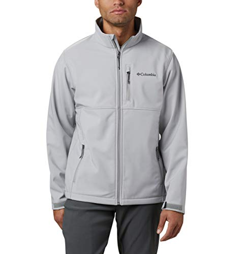 Columbia Men's Ascender Softshell Front-Zip Jacket, Grey, Medium