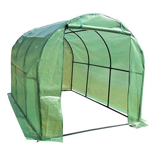 Upgraded Portable Greenhouse Large Tunnel Tent, Walk-in Heavy Duty Green Gardening Plant Hot Outdoor House with 2 Doors, 200cm/300cm Long (Size : 300x200x200cm)