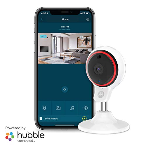 Motorola Focus71 Indoor Security Camera System - Surveillance, Elderly, Pet, Baby Monitor with Two-Way Audio Talk - Mountable Base, 1080p Video, 90-Degree Wide Angle View, Low Light and Night Vision
