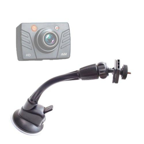 DURAGADGET Support Ventouse/Fixation à Long Bras pour PNJ Cam AEE SD18, SD19, AEE SD21 et AEE SD23 Mini Caméra de Sport embarquée étanche/caméscope