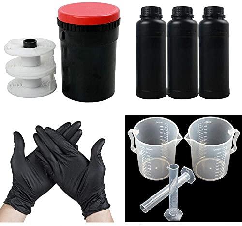 120 135 B & W Film Darkroom Kit attrezzatura di sviluppo Strumento di elaborazione Serbatoio di sviluppo con bobina chimica a spirale 120 135 B&W Film