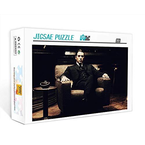Puzzle de 1000 piezas para adultos Póster El padrino: personaje de película Juego familiar, trabajo en equipo, regalo y regalo para amantes o amigos. 75x50cm