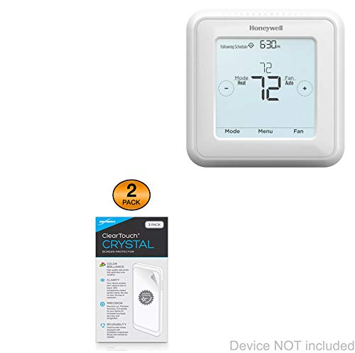 Honeywell T5 Touchscreen 7-Day Programmable Thermostat (RTH8560D) Screen Protector, BoxWave [ClearTouch Crystal (2-Pack)] HD Film Skin - Shields from Scratches