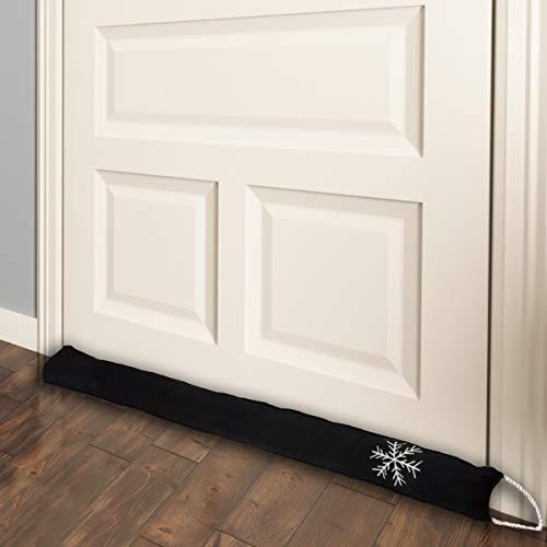 """Simply Genius Door Draft Stopper 36"""": Draft Guard, Draft Blocker for Interior, Bottom of Doors, Under Window, Garage, Fireplace, Energy Saver, Soundproof Room Bottom Door Seal"""