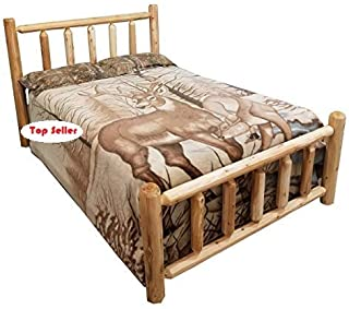 Michigan Rustics Rustic Log Bed Twin, Full, Queen, King (King)