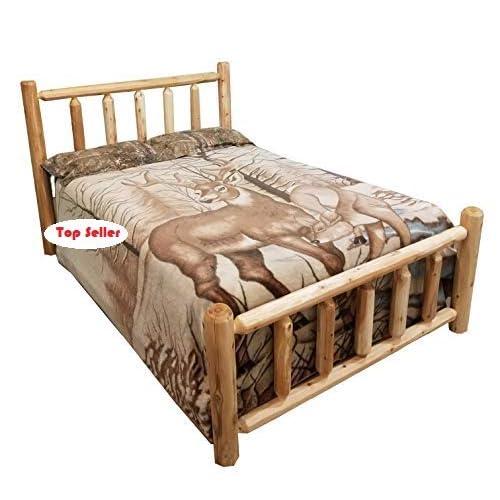 FREE Quick ship!! Rustic Log Bed Rustic Log Funiture