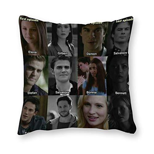 The Vampire Diaries, cuscino Pop Art, federa in tela per letto singolo, senza imbottitura, 40 x 40 cm (solo fodera)