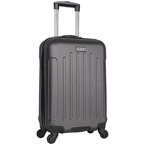Heritage Travelware Lincoln Park 20' Hardside 4-Wheel Spinner Carry-on Luggage, Charcoal