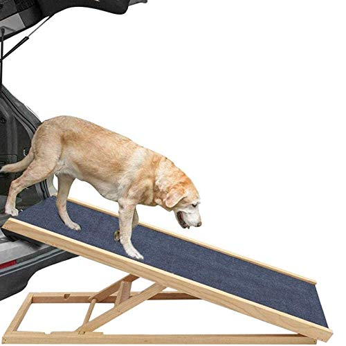 PPBB Hunderampe Tragbare Haustier Haustier Rampe Höhenverstellbare Auto Rampen Aus Holz Für Haustiere Klappbar Hundetreppe Hunde Rampe Einstiegshilfe Ideal Für Reise Transport Auto,70 * 35cm