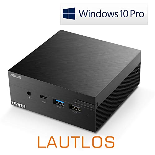Mini-PC - ASUS PN40 / 500 GB M.2 SSD / 16GB RAM/Win 10 Pro - Silent-PC mit Intel-CPU 4X 2400MHz, 500 GB M.2 SSD, 16 GB DDR4 RAM, Intel UHD Grafik, AC WLAN, USB 3.1, HDMI, Bluetooth 5.0, Windows 10