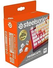 SteelSeries PrismCaps – Tweevoudig gegoten Pudding-Style keycaps – Duurzaam thermoplastisch PBT – Compatibel met de meeste mechanische toetsenborden – MX-verbindingen – Wit (Amerikaanse indeling)
