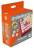 SteelSeries PrismCaps – teclas de doble inyección estilo pudding – termoplástico PBT resistente – compatible con la mayoría de teclados mecánicos – vástagos MX – blanco (Configuración americana)