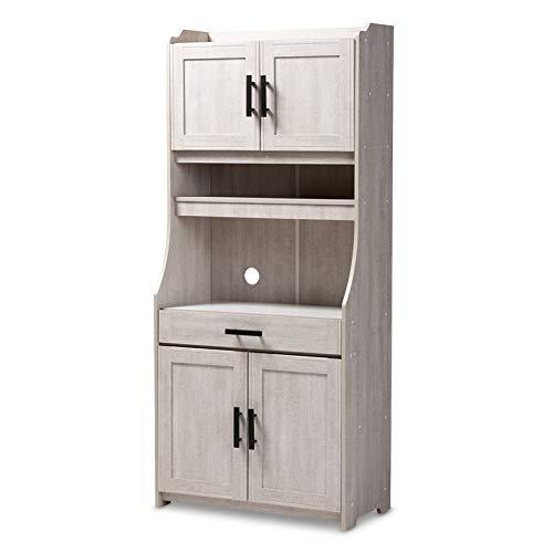 Giantex Bathroom Floor Cabinet Wooden with 1 Door & 4 Drawer, Free Standing Wooden Entryway Cupboard Spacesaver Cabinet, White