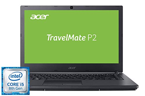 Acer TravelMate P2410 TMP2410-G2-M-5260 35,6 cm (14 Zoll Full-HD IPS matt) Business-Laptop (Intel Core i5-8250U, 8 GB RAM, 256 GB SSD, Intel UHD, Linux) schwarz