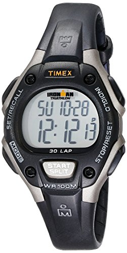 Timex Women's Ironman 30-Lap Digital Quartz Mid-Size Watch, Black/Gray - T5E961